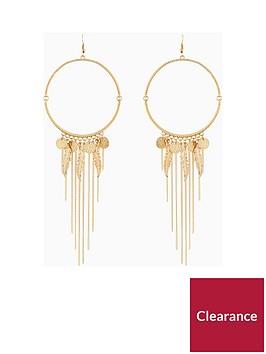 v-by-very-leaf-chain-drop-hoops-earrings