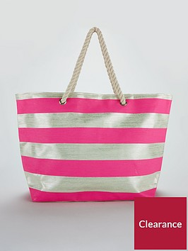v-by-very-metallic-stripe-beach-bag-silverpink