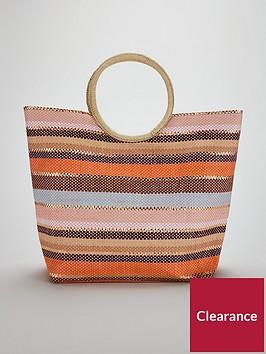 v-by-very-circle-handle-stripe-beach-bag