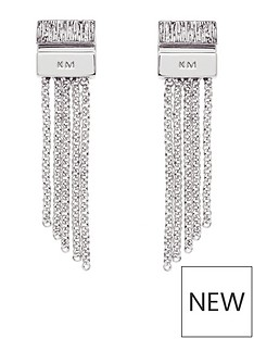 karen-millen-karen-millen-silver-multi-chain-double-drop-earrings