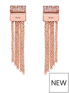 karen-millen-gold-mutli-chain-double-drop-earrings