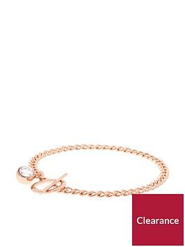 karen-millen-karen-millen-quantum-crystalnbspt-bar-bracelet-rose-goldnbsp