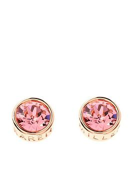 karen-millen-karen-millen-logo-rose-gold-rose-peach-stud-earrings