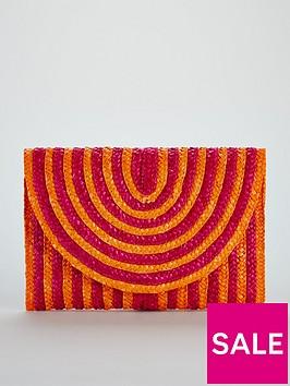 v-by-very-colour-pop-stripe-straw-clutch-bag