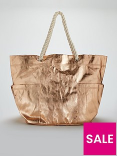 v-by-very-oversized-metallic-beach-bag-rose-gold