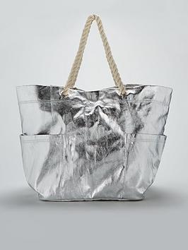 v-by-very-oversized-metallic-beach-bag-silver