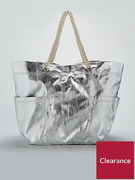 v-by-very-oversized-metallic-beach-bag-silver