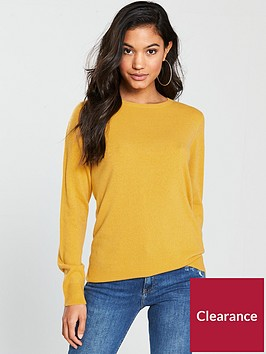 v-by-very-supersoft-crew-neck-jumper-ochre