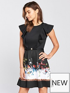 ted-baker-shaelin-opulent-fauna-ruffle-bow-dress-blacknbsp