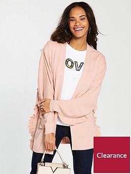 v-by-very-ruffle-detail-batwing-cardigan-blush-pink