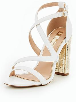 Miss Kg Swish Strappy Block Heel Sandal - White