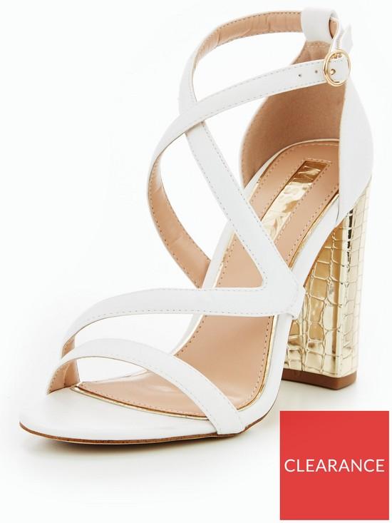 6081bf63d915 Miss KG Swish Strappy Block Heel Sandal - White