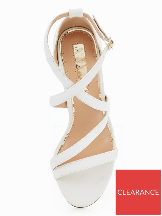 62e7dc1bbae7 ... Miss KG Swish Strappy Block Heel Sandal - White. View larger