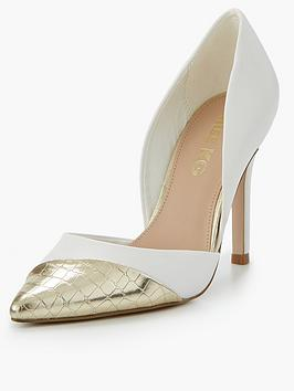 Miss Kg Caitlyn Contrast Toe Cap Court Shoe - White