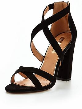 Miss Kg Faun Strappy Heeled Sandal - Black