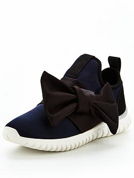 Miss Kg Lyla Bow Trainer - Navy/Black