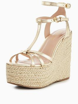 Miss Kg Pamela Wedge Sandal - Gold