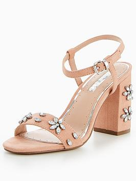 Miss Kg Jewelled Shimmer Block Heel