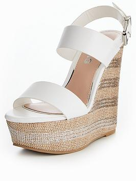 Miss Kg Promise Mega Wedge Sandal - White