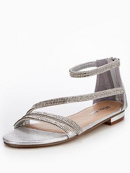 miss-kg-ren-asymmetricalnbspsandal-silver