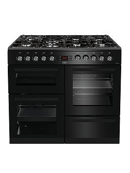 Beko Kdvf100K 100 Cm Dual Fuel Rangecooker - Black Best Price, Cheapest Prices