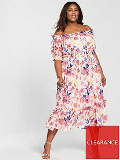 v-by-very-curve-bardot-midi-dress-floral-print