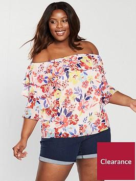 v-by-very-curve-bardot-ruffle-blouse