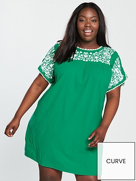 v-by-very-curve-embroidered-crinkle-tunic-dress-jade