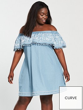 v-by-very-curve-embroidered-bardot-tencel-dress-bluenbsp