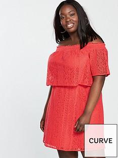 v-by-very-curve-lace-bardot-dress-orange