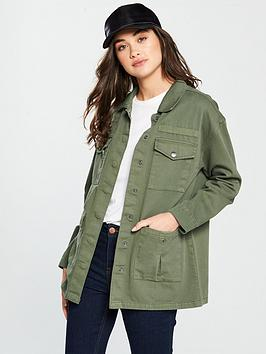 v-by-very-patch-pocket-utility-jacket-khaki
