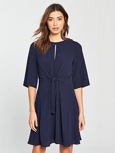 v-by-very-tie-front-tea-dress