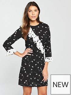 v-by-very-mixed-print-frill-tea-dress