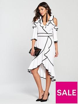 v-by-very-frill-wrap-dress-monochrome
