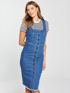 v-by-very-denim-button-through-midi-dress