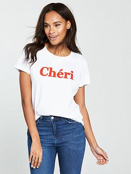 v-by-very-cheri-slogan-t-shirt