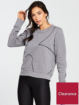 under-armour-favourite-fleece-crew-sweater-light-grey-heathernbsp