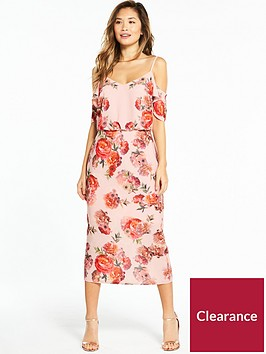 oasis-romance-rose-cold-shoulder-midi-dress