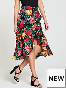 v-by-very-frill-wrap-midi-skirt-floral-printnbsp