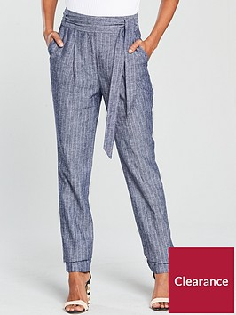 v-by-very-tapered-leg-linen-trouser-blue-stripenbsp