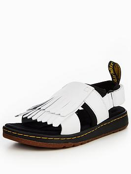 Dr Martens Rosalind Kiltie Sandal - White/Black