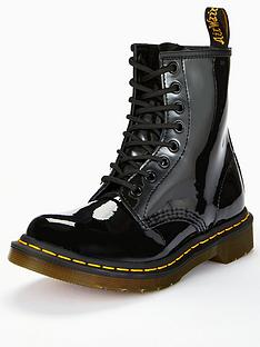 fa208844c74f Dr Martens 8 Eye Patent Ankle Boots - Black