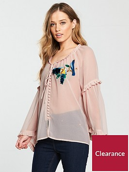 v-by-very-bird-embellished-chiffon-blouse-blush