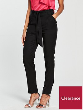 v-by-very-tapered-leg-tencel-trouser-black