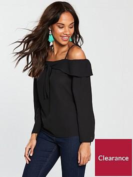 v-by-very-cold-shoulder-top-black