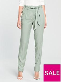 v-by-very-tapered-leg-tencel-trouser-soft-green