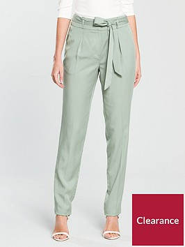 v-by-very-tapered-leg-tencel-trouser-soft-green