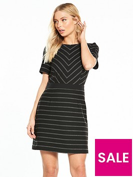 oasis-cutabout-stripe-dress-mid-bluenbsp