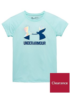 under-armour-girls-solid-big-logo-tee