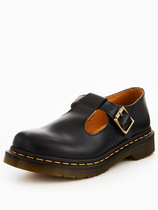 aac2e36e2f Dr Martens Polley T-Bar Shoes - Black | very.co.uk